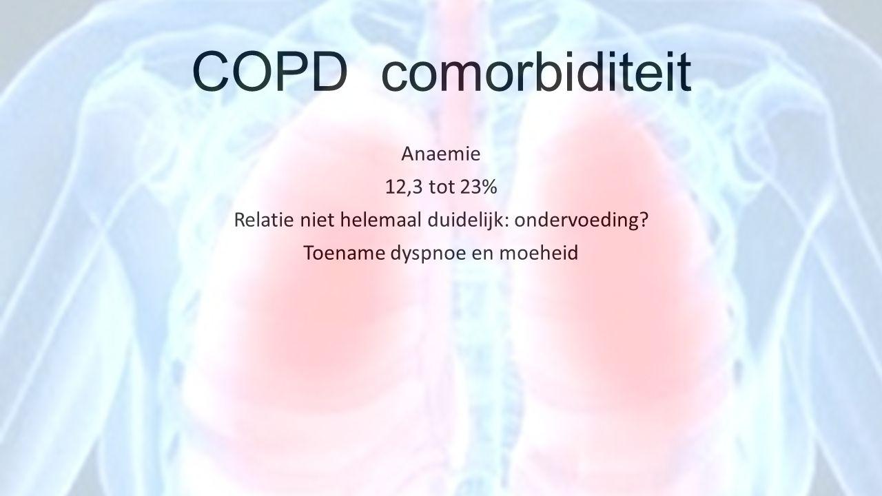 COPD comorbiditeit Anaemie 12,3 tot 23%