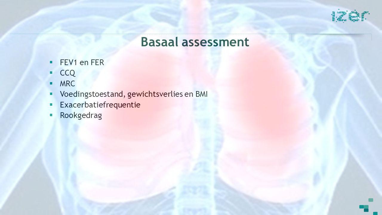 Basaal assessment FEV1 en FER CCQ MRC
