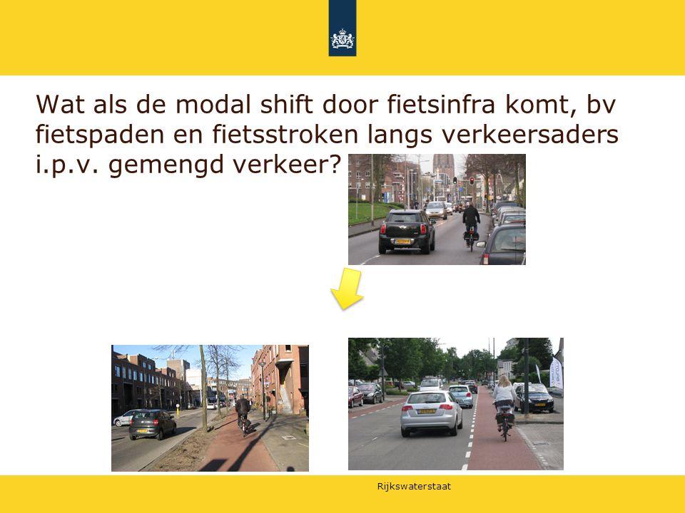 Wat als de modal shift door fietsinfra komt, bv fietspaden en fietsstroken langs verkeersaders i.p.v.