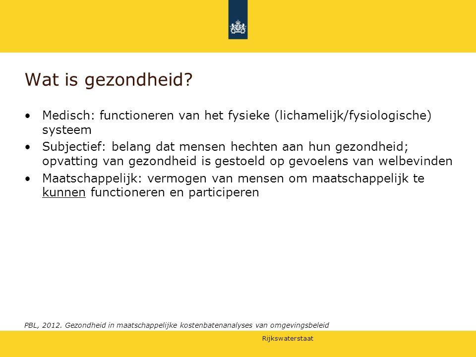 Wat is gezondheid Medisch: functioneren van het fysieke (lichamelijk/fysiologische) systeem.