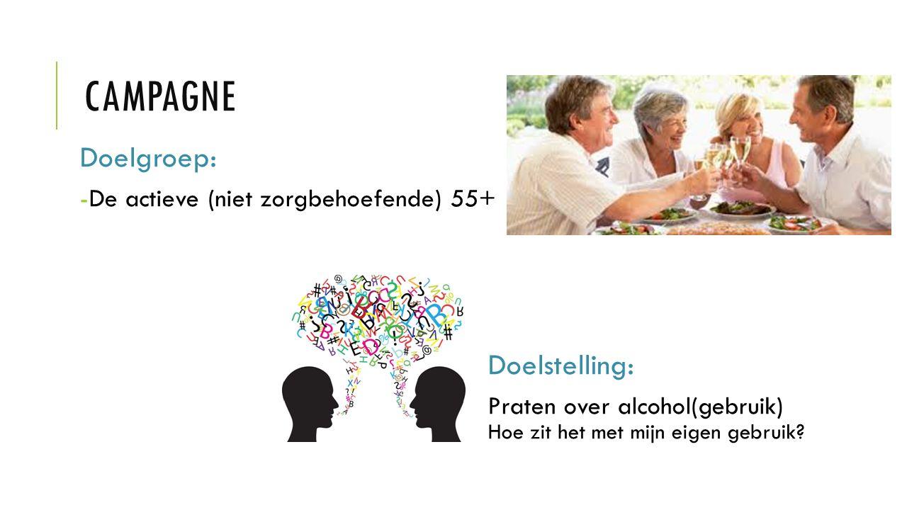 campagne Doelgroep: Doelstelling: De actieve (niet zorgbehoefende) 55+