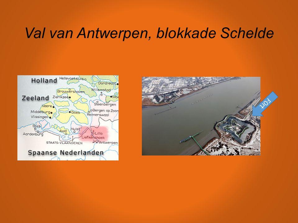 Val van Antwerpen, blokkade Schelde