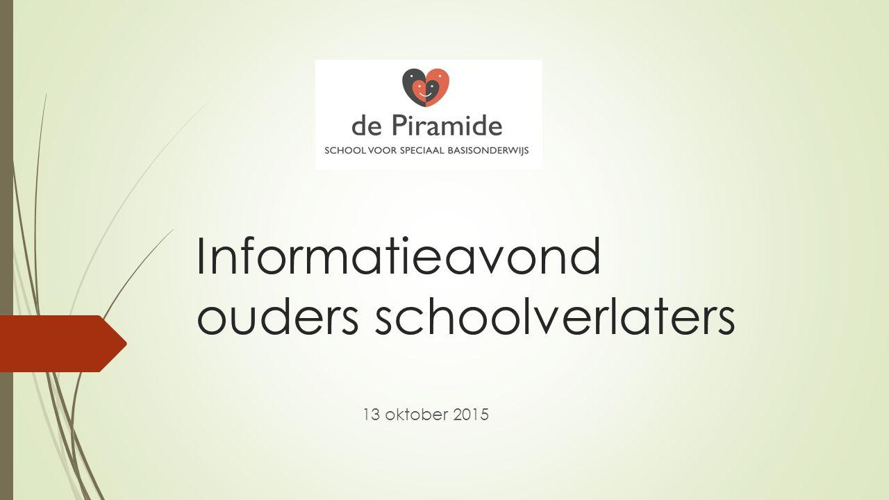 Informatieavond ouders schoolverlaters