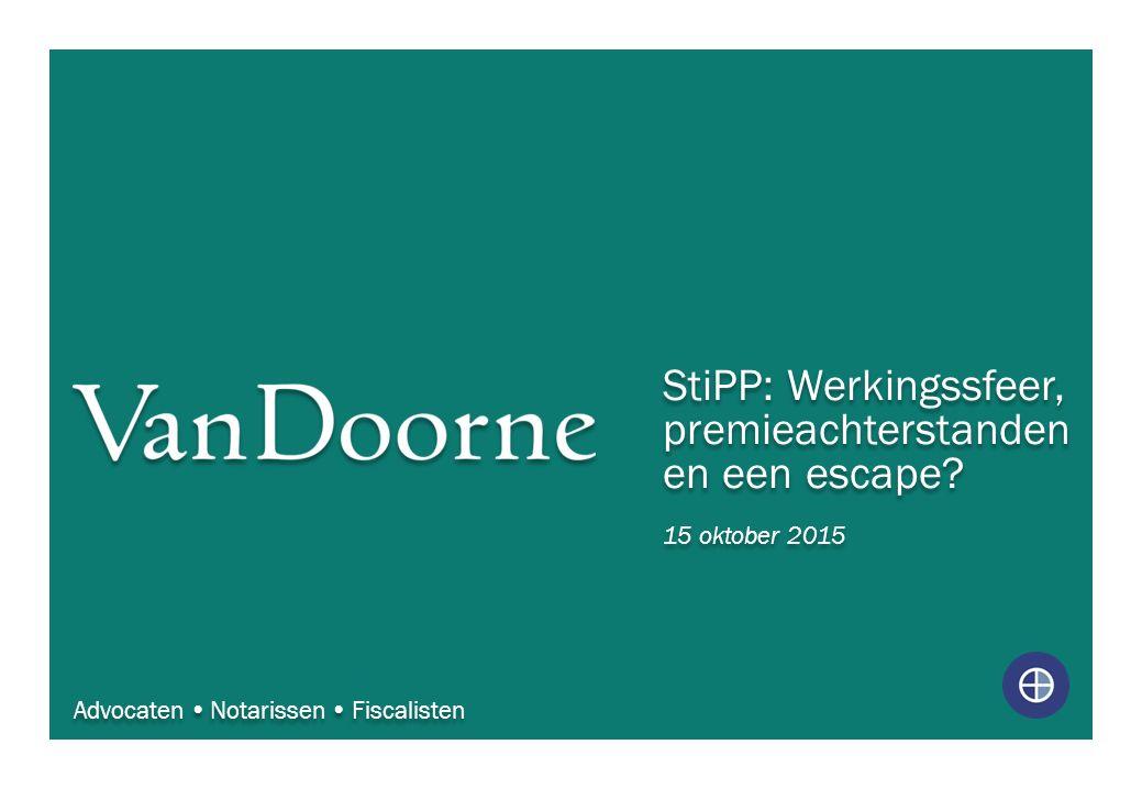 StiPP: Werkingssfeer, premieachterstanden en een escape