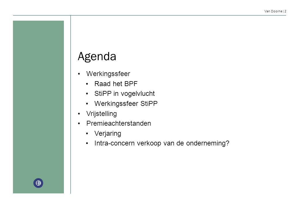 Agenda Werkingssfeer Raad het BPF StiPP in vogelvlucht
