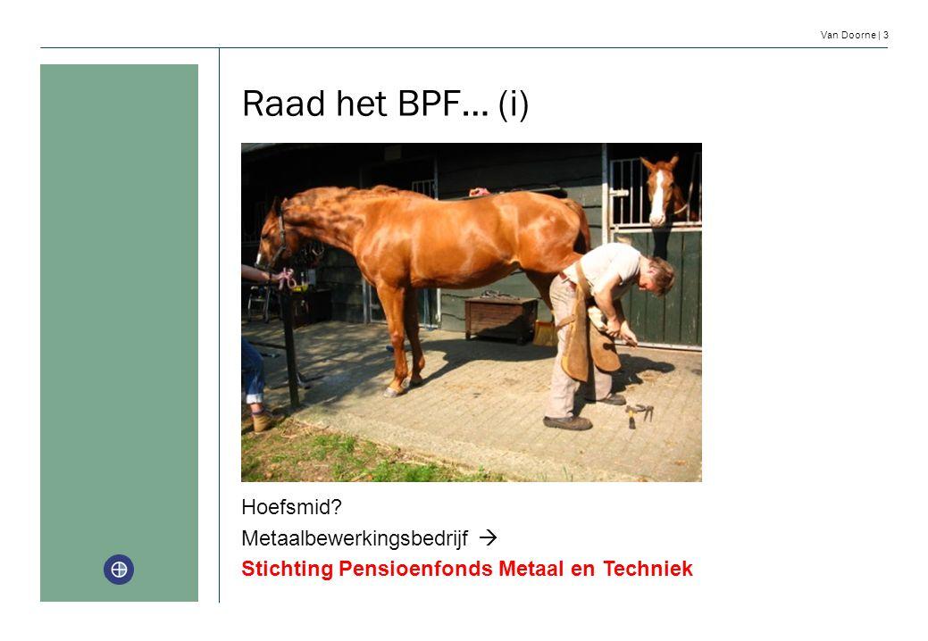 Raad het BPF… (i) Hoefsmid Metaalbewerkingsbedrijf 