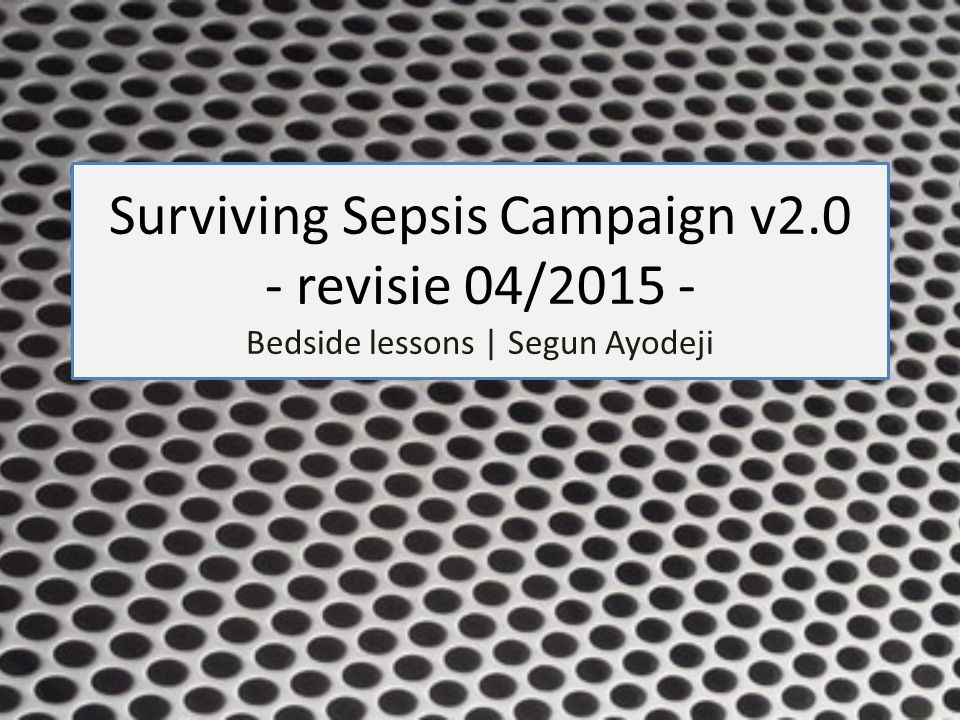 Surviving Sepsis Campaign v2