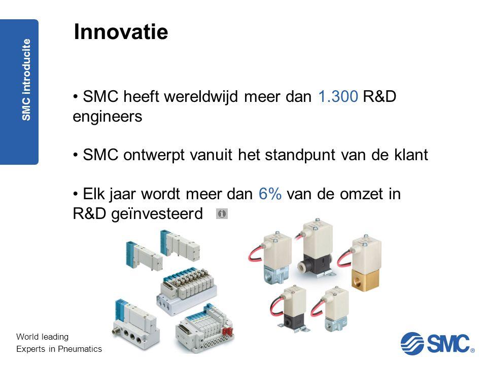 Innovatie SMC heeft wereldwijd meer dan 1.300 R&D engineers