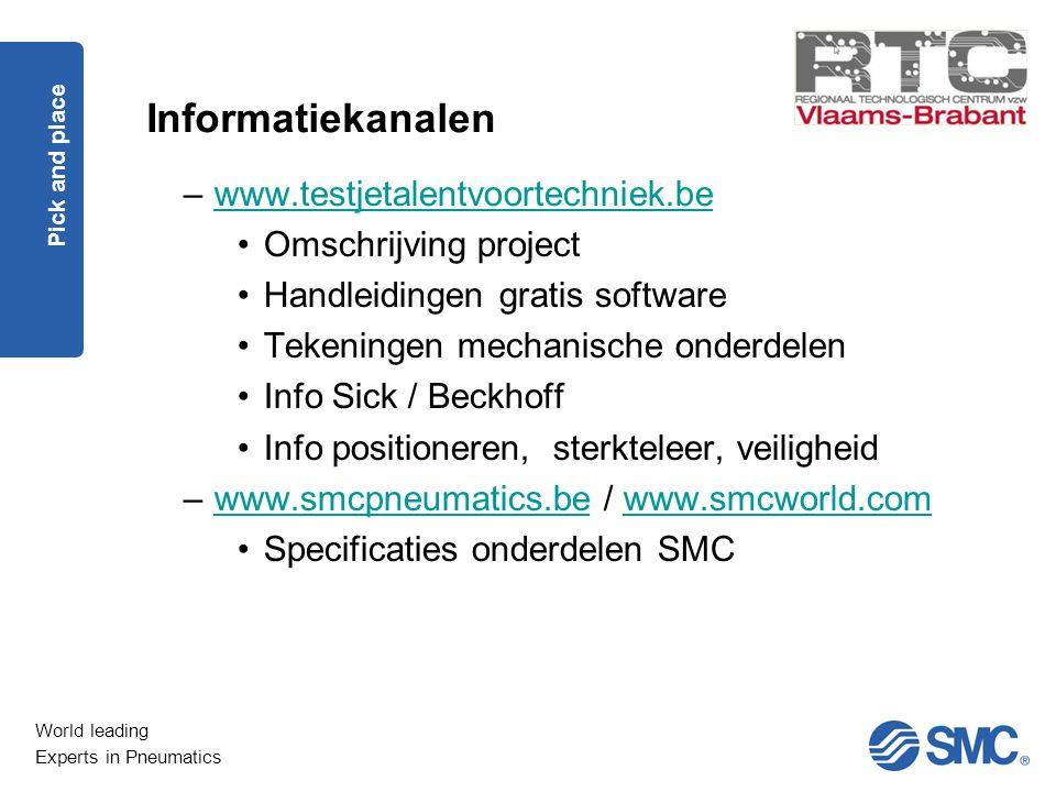 Informatiekanalen www.testjetalentvoortechniek.be Omschrijving project