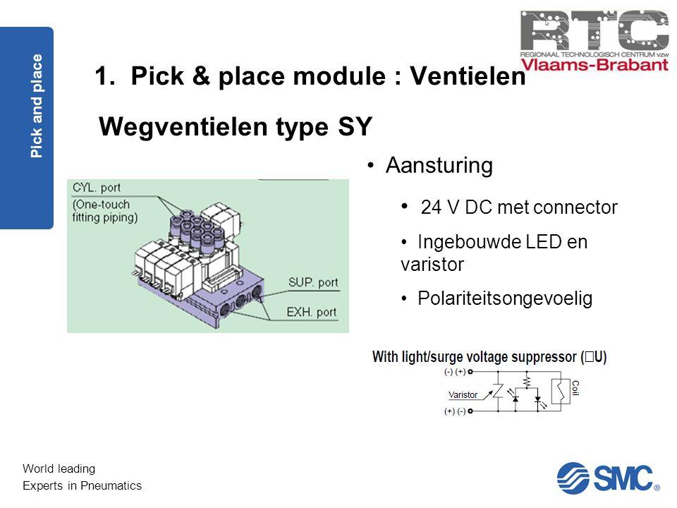 1. Pick & place module : Ventielen