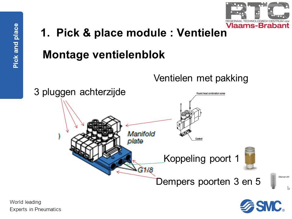 Montage ventielenblok