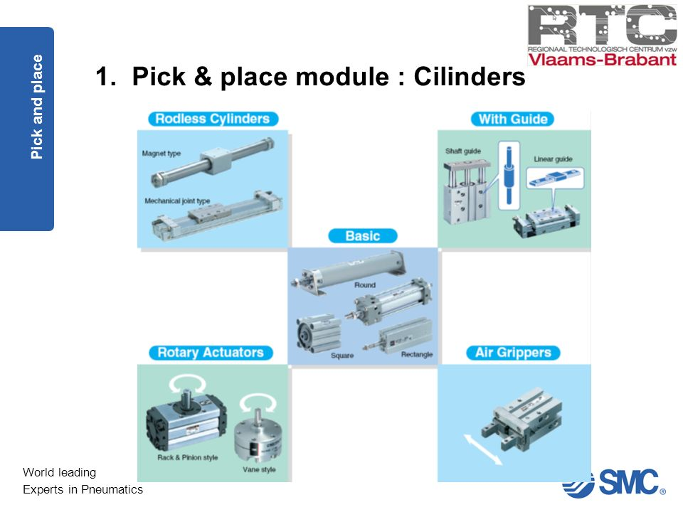 1. Pick & place module : Cilinders