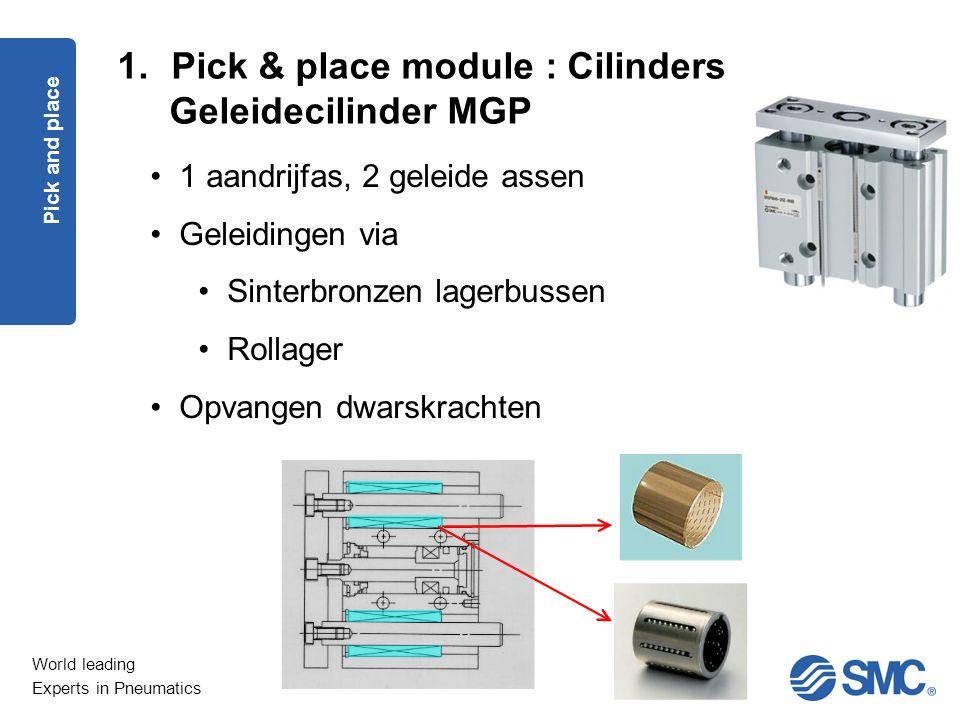 Pick & place module : Cilinders Geleidecilinder MGP