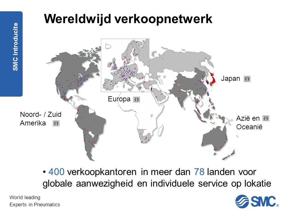 Wereldwijd verkoopnetwerk