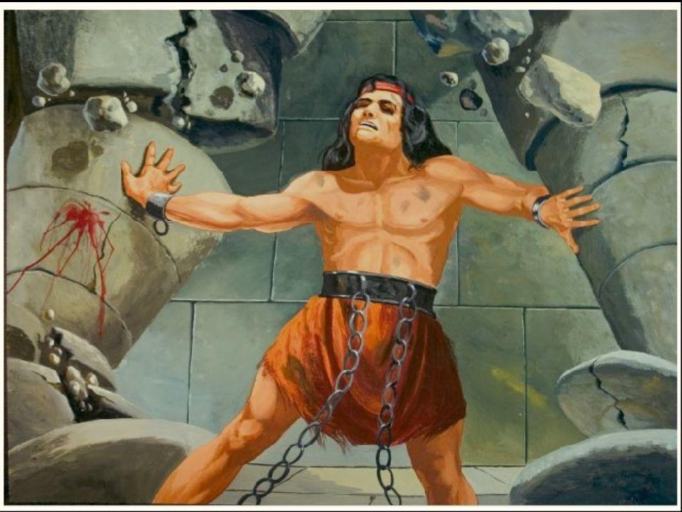Maar dan … bij een feest vraag Simson God nog één keer om hulp!