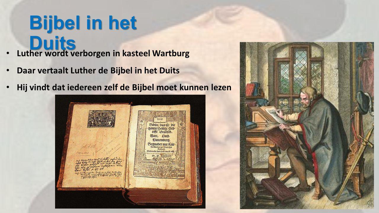 Bijbel in het Duits Luther wordt verborgen in kasteel Wartburg