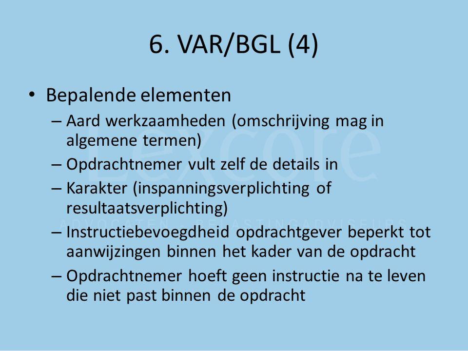 6. VAR/BGL (4) Bepalende elementen