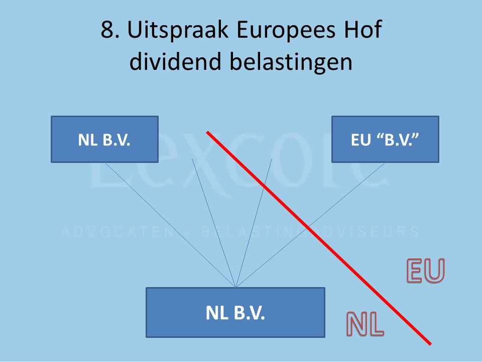 8. Uitspraak Europees Hof dividend belastingen