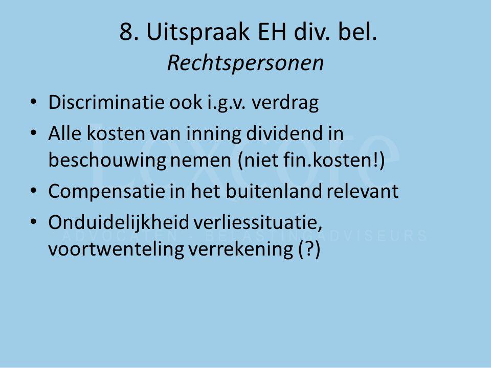 8. Uitspraak EH div. bel. Rechtspersonen