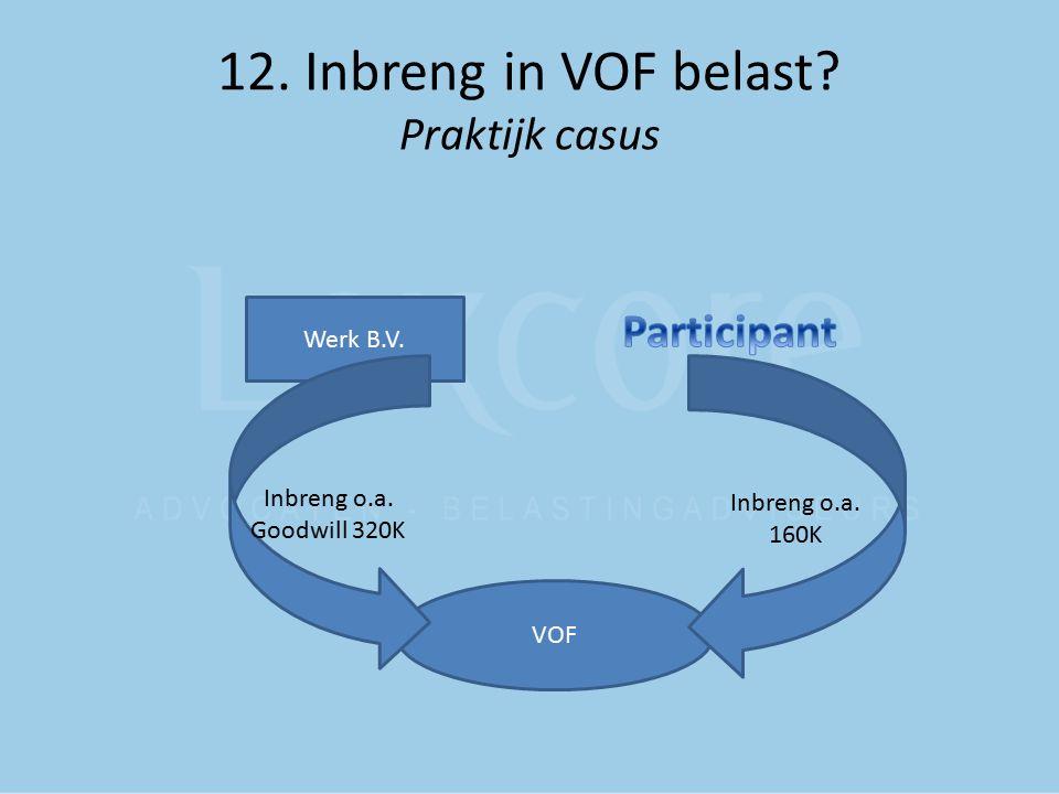 12. Inbreng in VOF belast Praktijk casus