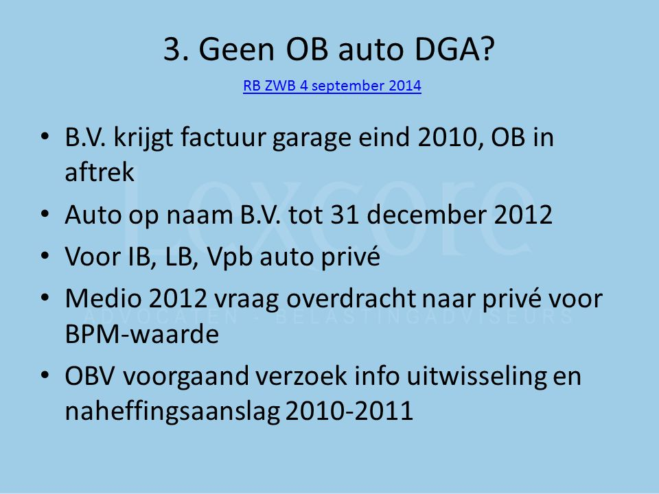 3. Geen OB auto DGA RB ZWB 4 september 2014