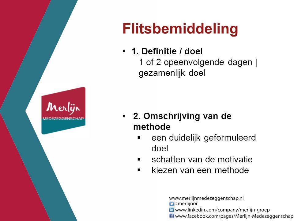 Flitsbemiddeling 1. Definitie / doel