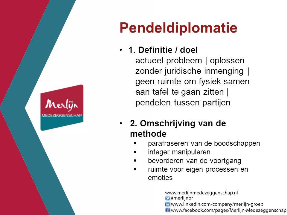 Pendeldiplomatie 1. Definitie / doel