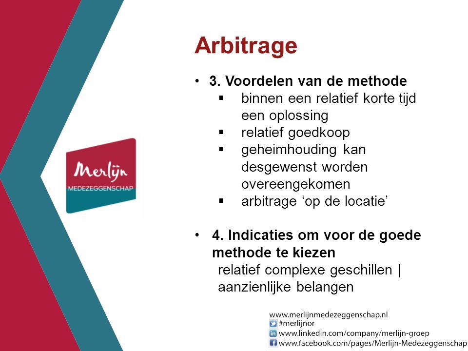 Arbitrage 3. Voordelen van de methode