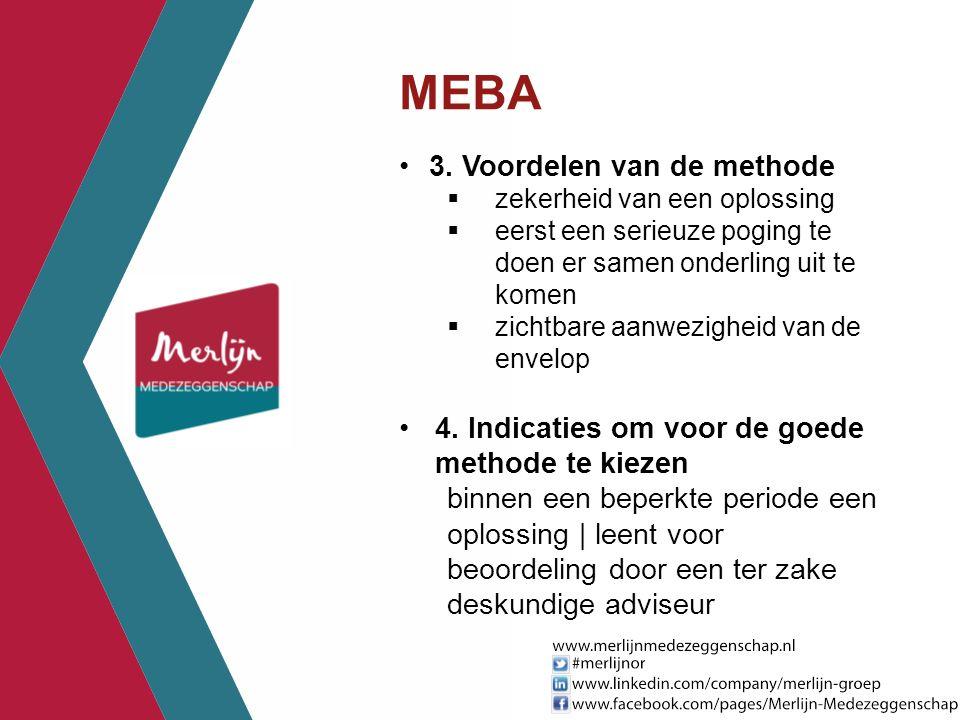 MEBA 3. Voordelen van de methode