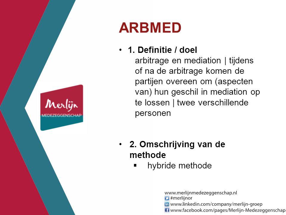 ARBMED 1. Definitie / doel