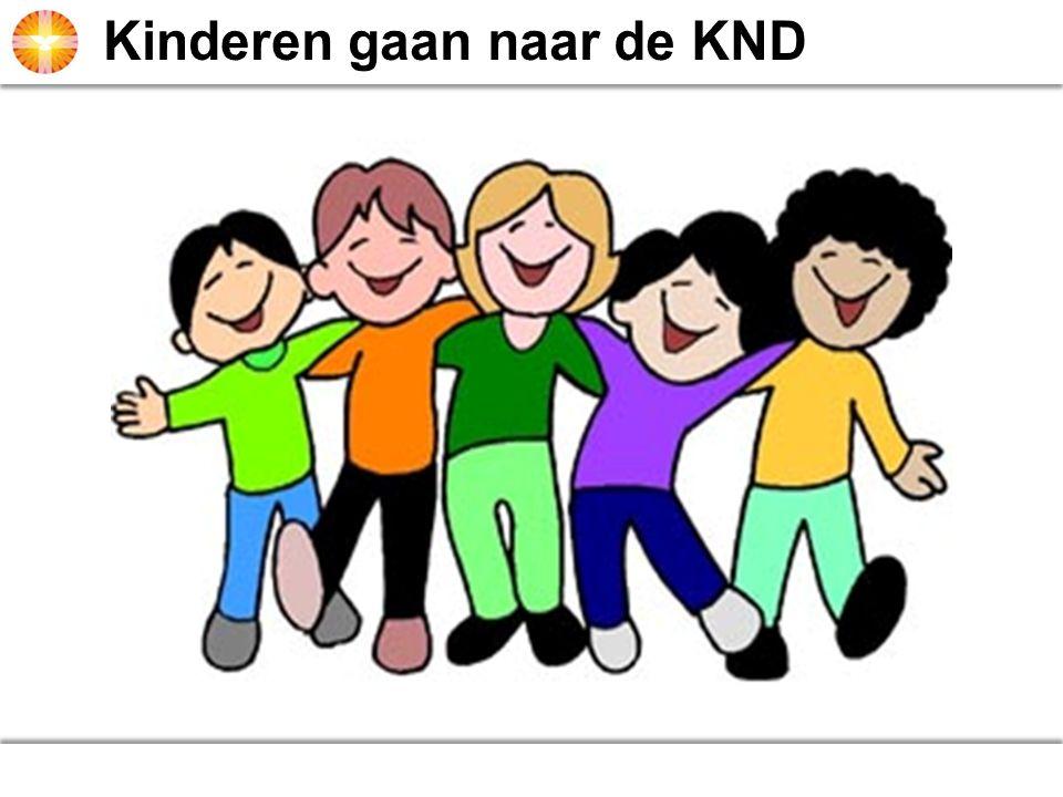 Kinderen gaan naar de KND