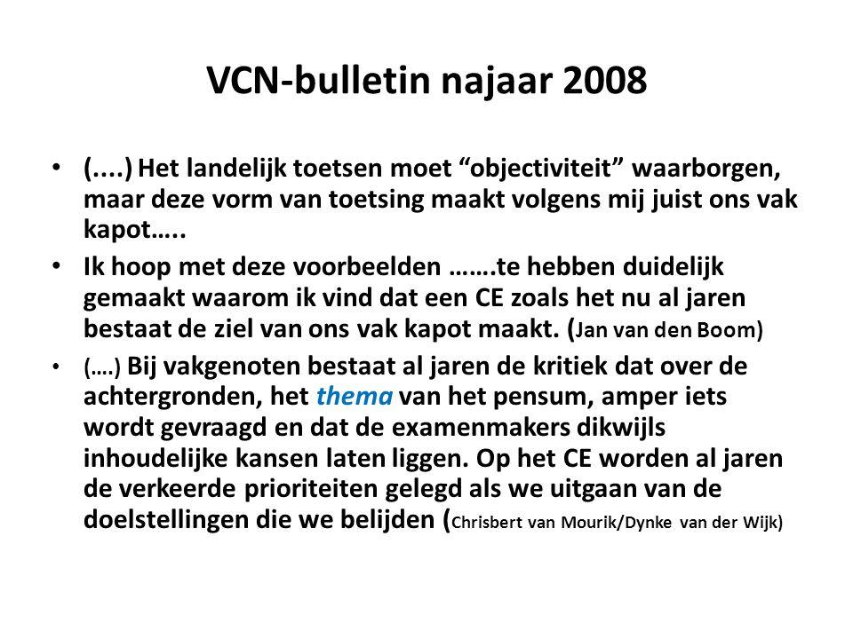 VCN-bulletin najaar 2008