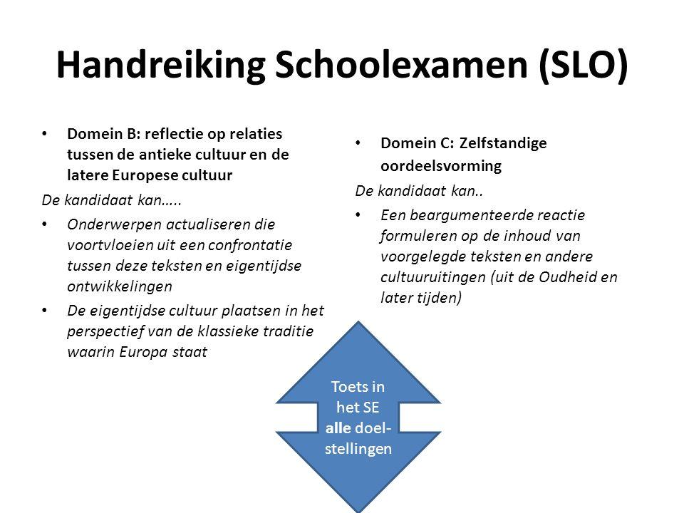 Handreiking Schoolexamen (SLO)