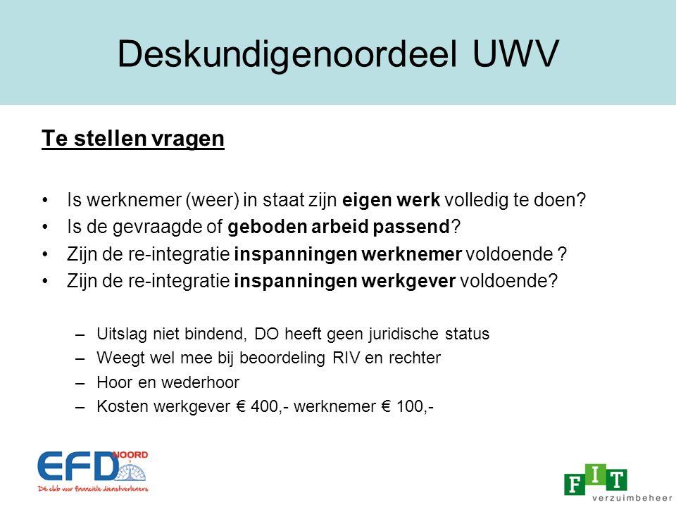 Deskundigenoordeel UWV