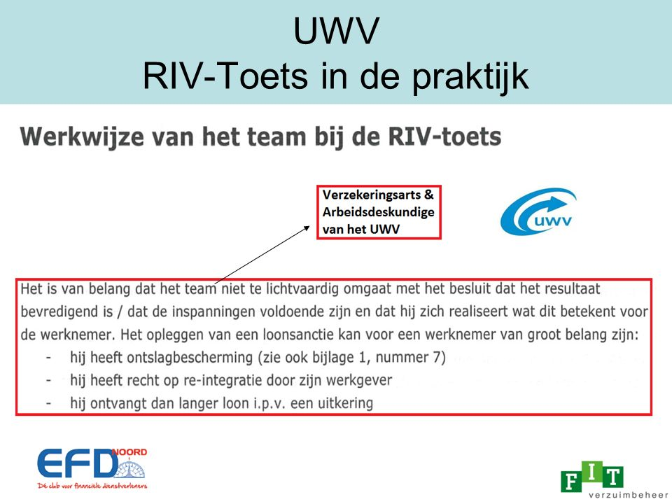 UWV RIV-Toets in de praktijk