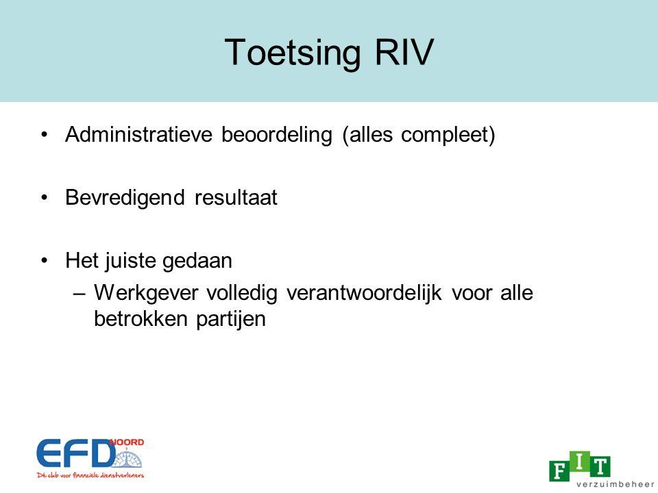 Toetsing RIV Administratieve beoordeling (alles compleet)