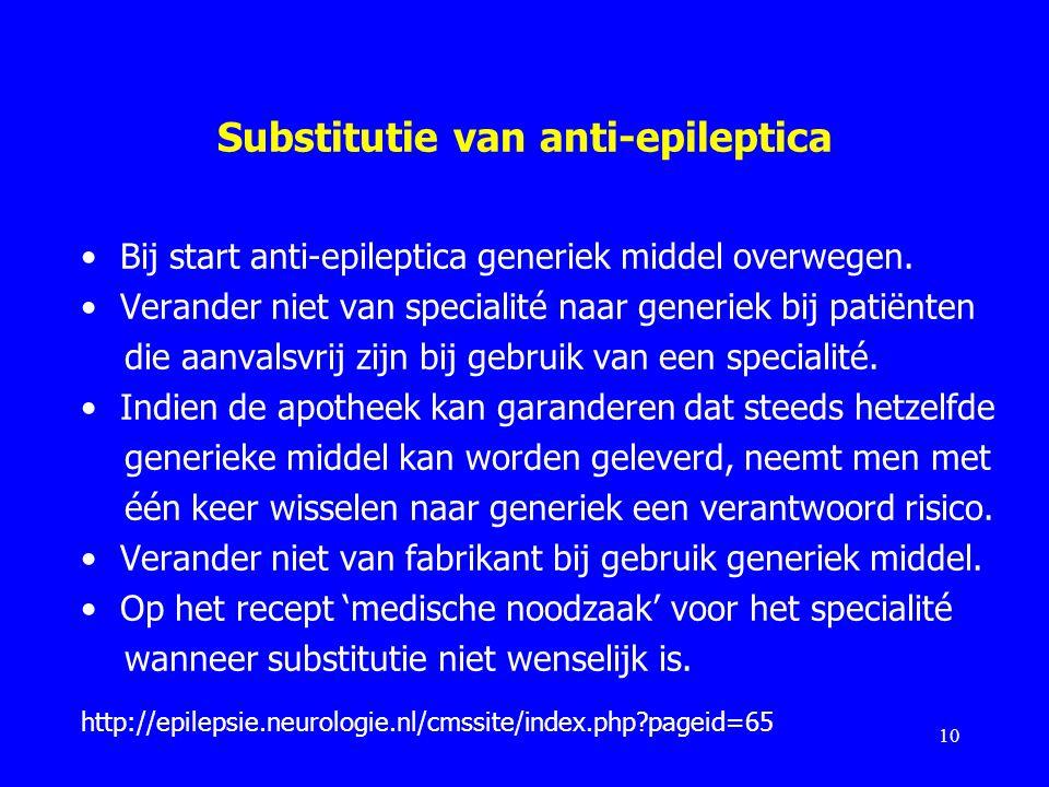 Substitutie van anti-epileptica
