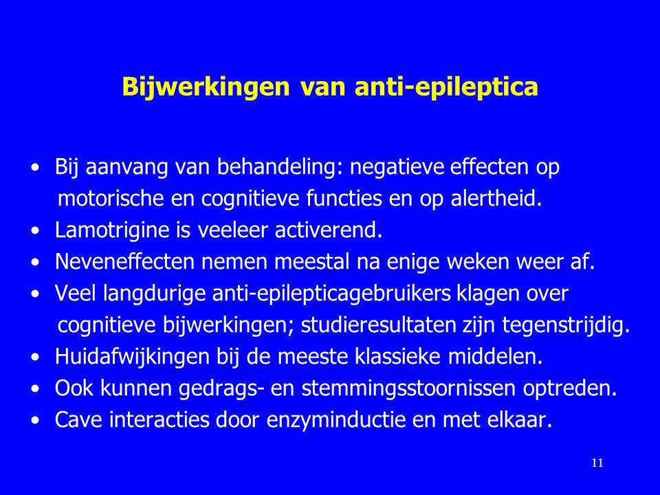 Bijwerkingen van anti-epileptica
