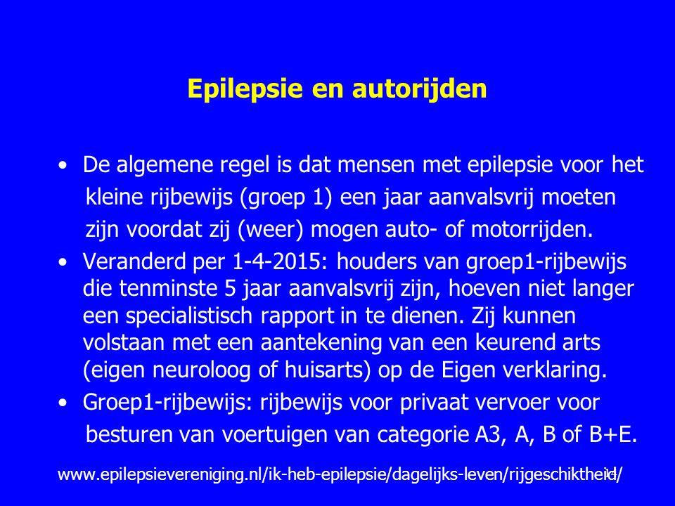 Epilepsie en autorijden