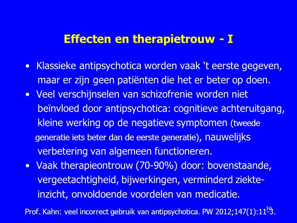 Effecten en therapietrouw - I