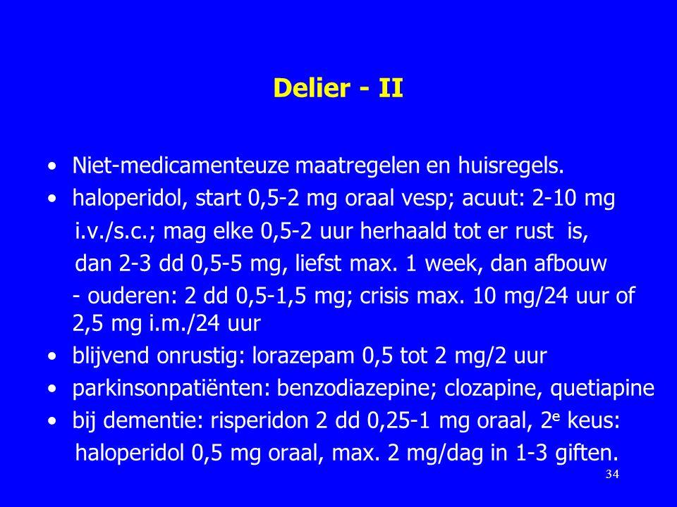 Delier - II Niet-medicamenteuze maatregelen en huisregels.