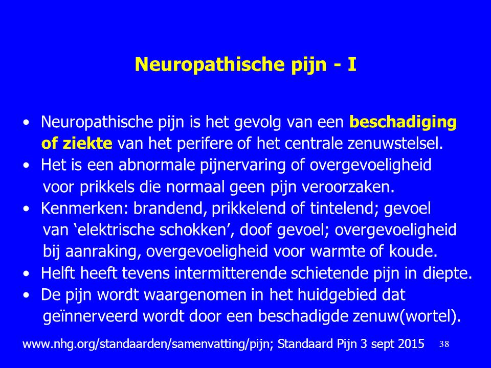 Neuropathische pijn - I