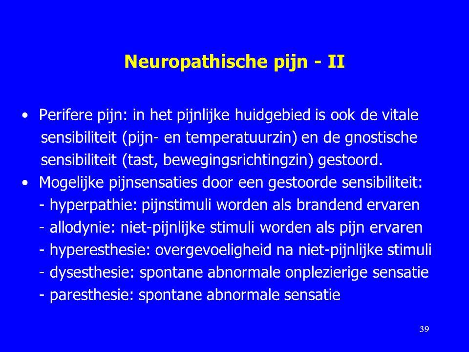Neuropathische pijn - II