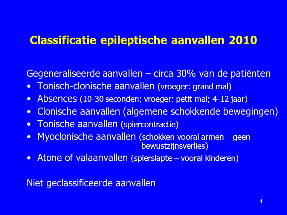Classificatie epileptische aanvallen 2010