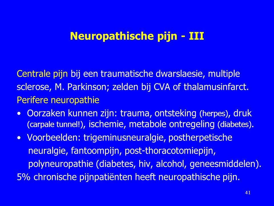 Neuropathische pijn - III