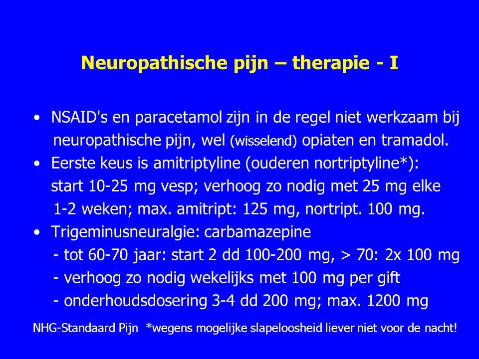 Neuropathische pijn – therapie - I