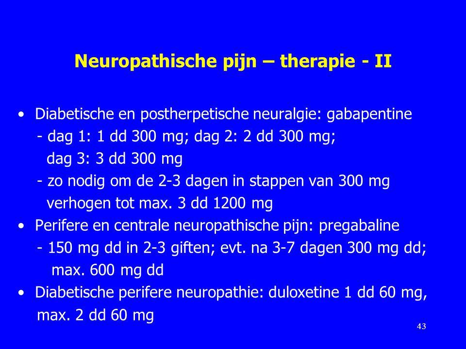 Neuropathische pijn – therapie - II