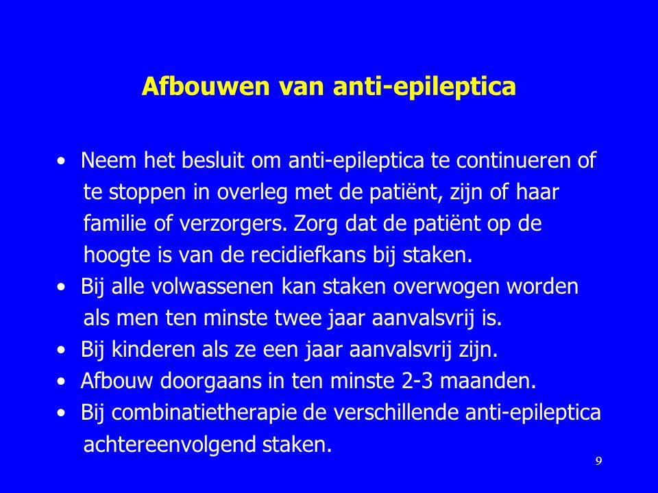 Afbouwen van anti-epileptica