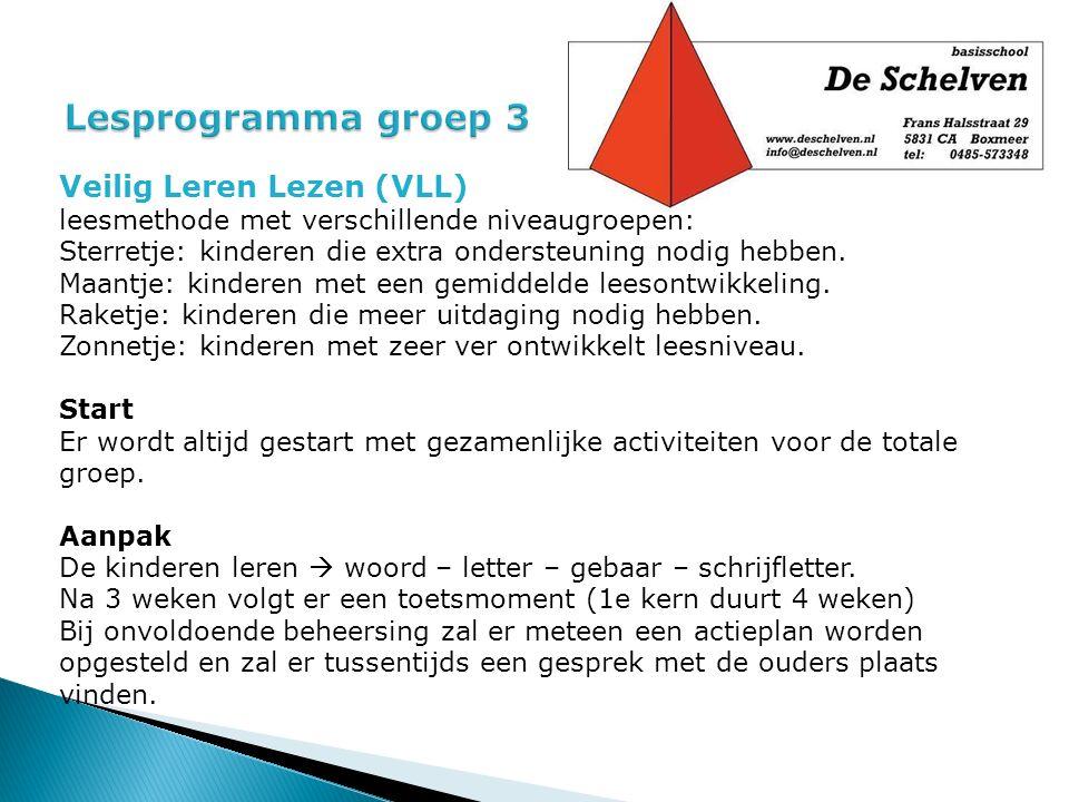 Lesprogramma groep 3 Veilig Leren Lezen (VLL)