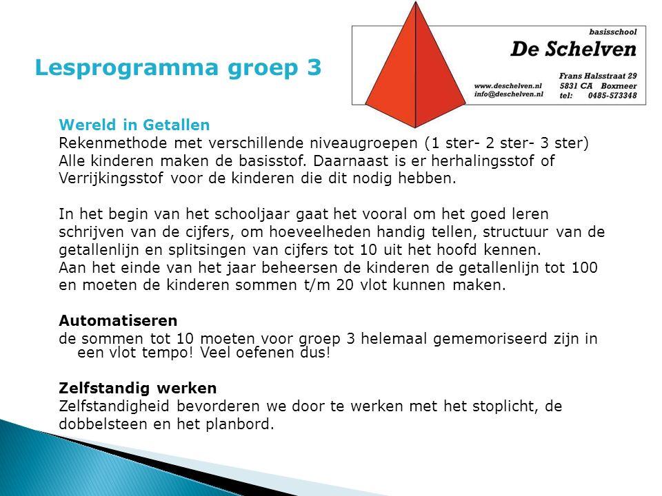 Lesprogramma groep 3 Wereld in Getallen